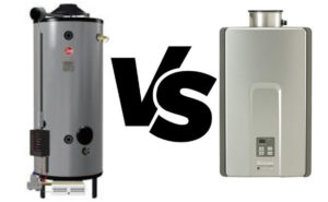 tankless water heater vs tank-