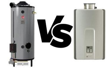 tankless water heater vs tank-